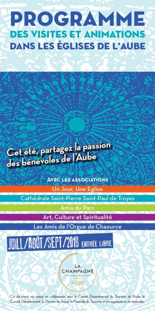 Programme des visites et animations dans les églises de l'Aube - été 2019